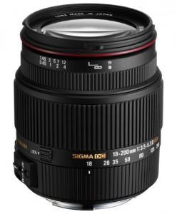 Objectif 18-200 mm Sigma