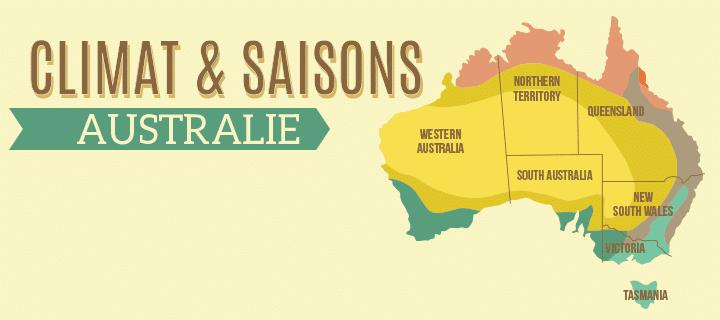 Carte Australie Inversee.Climat Et Saisons En Australie