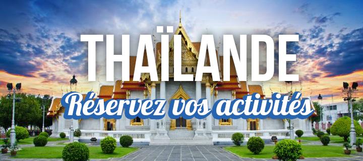 Activités thailande