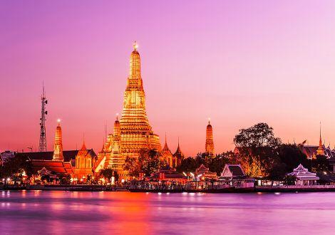 Diner spectacle sur le fleuve Chao Phraya