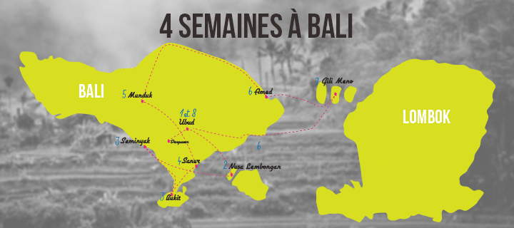 Itinéraire Bali 4 semaines