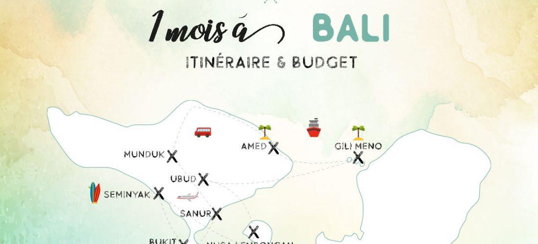 itinéraire budget bali