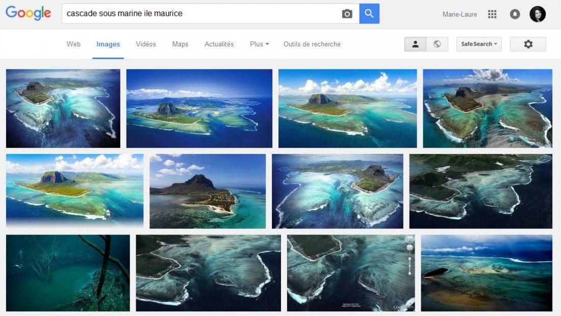 ile maurice cascade sous marine