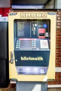Un des types de machine où la recharge de lIstanbulkart est possible