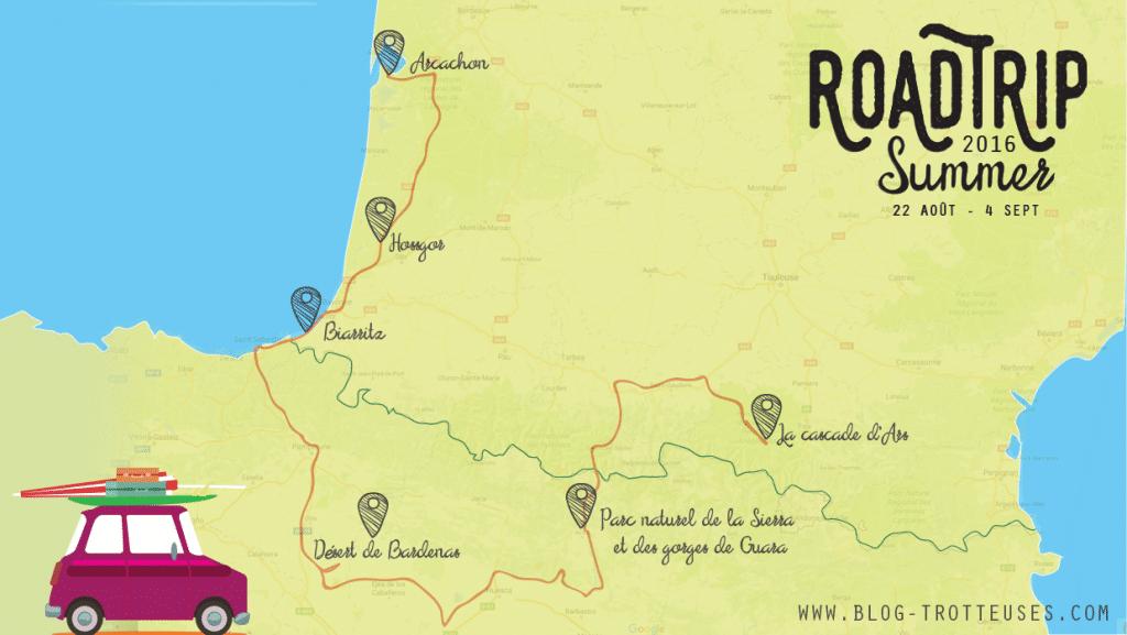 itinéraire road trip france espagne