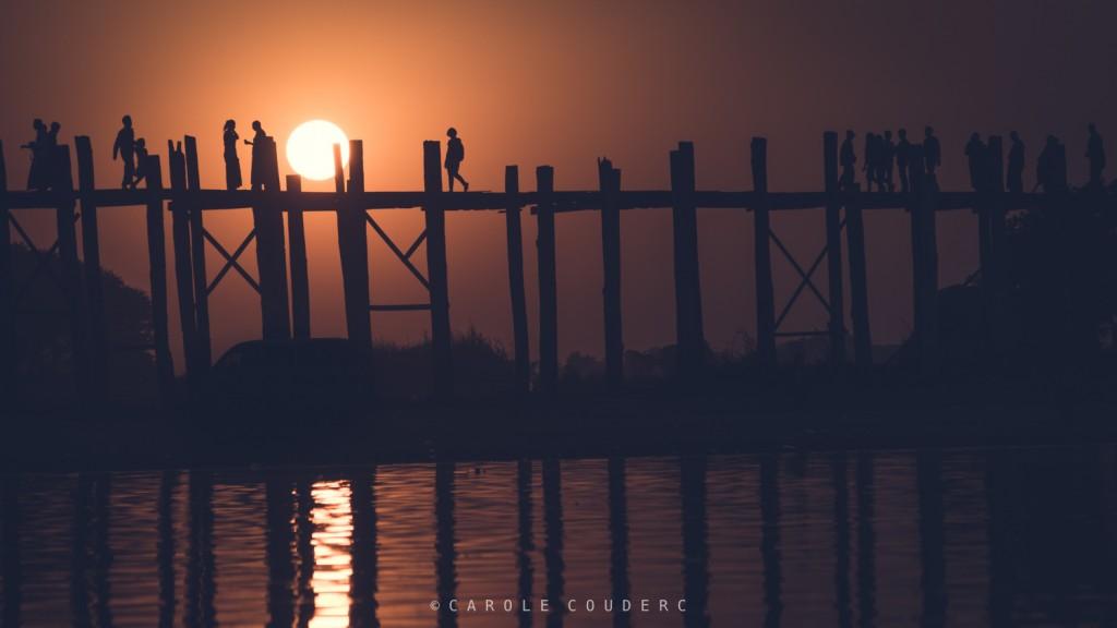 Coucher de soleil Pont U Bein