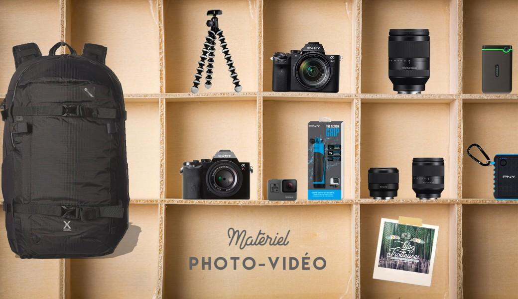 Notre matériel Photo et Vidéo pour voyager