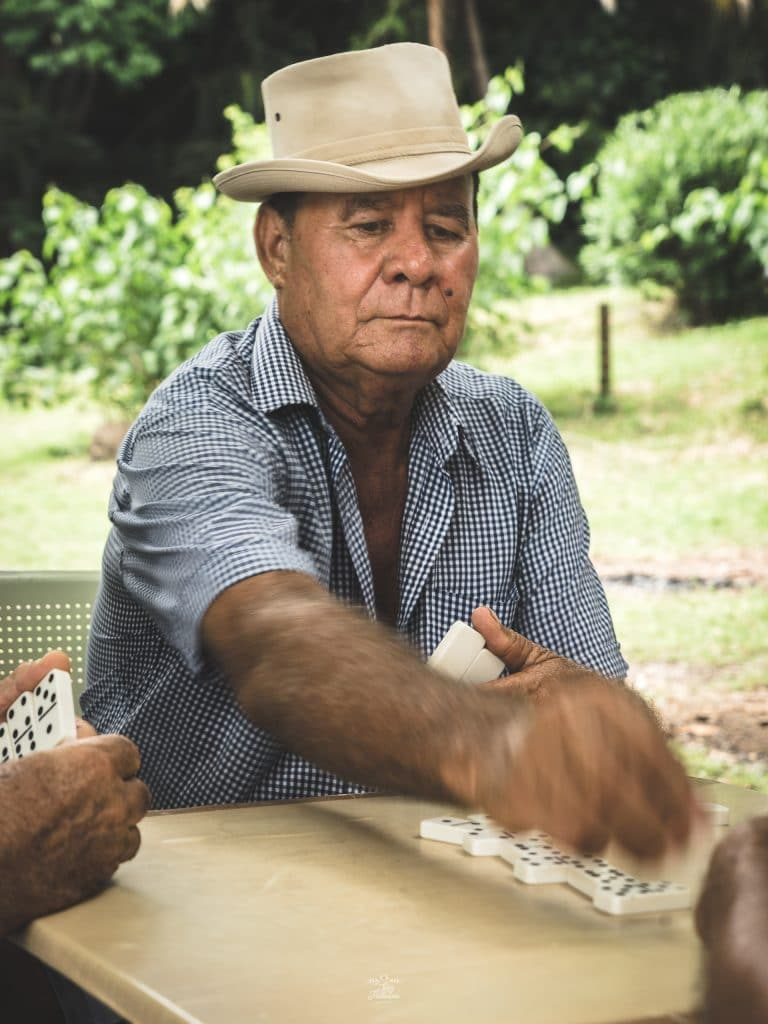Joueur de domino à Grande Anse