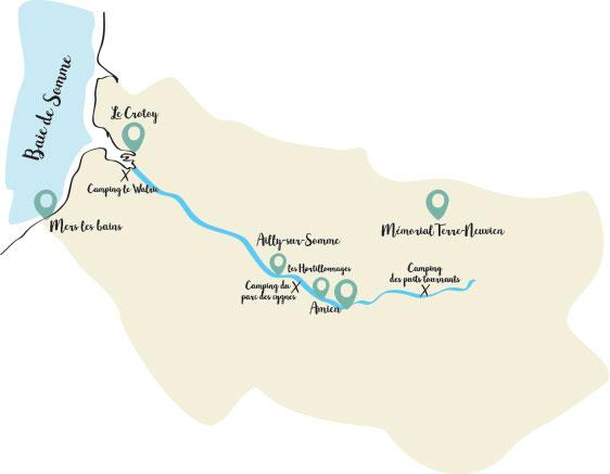 Itinéraire Road trip dans la SOmme
