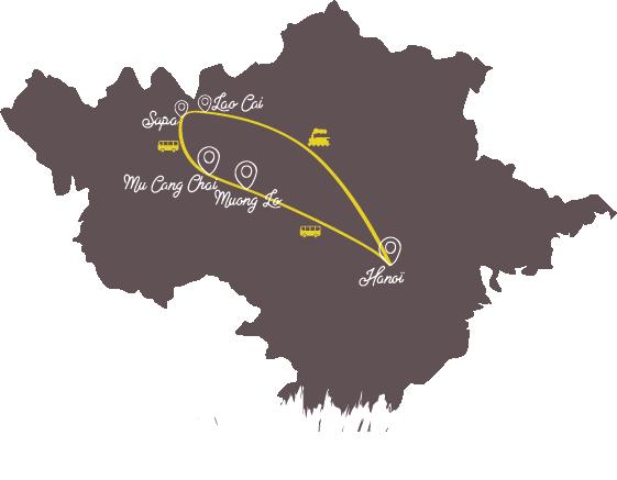 carte -nord -vietnam