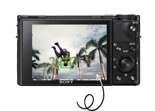 Écran tactile mise au point Sony rx 100 vii