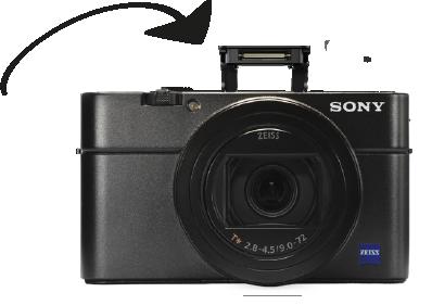 flash intégré Sony rx 100 vii