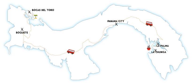 itinéraire panama 1 mois